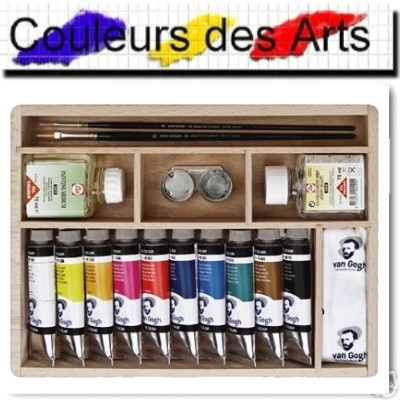 coffret bois d 39 huile van gogh 10 tubes 40ml. Black Bedroom Furniture Sets. Home Design Ideas
